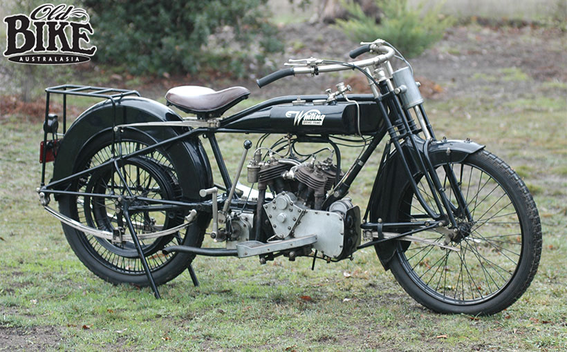 Old Bikes Australasia: The Whiting. An Aussie V-4…from 1919!