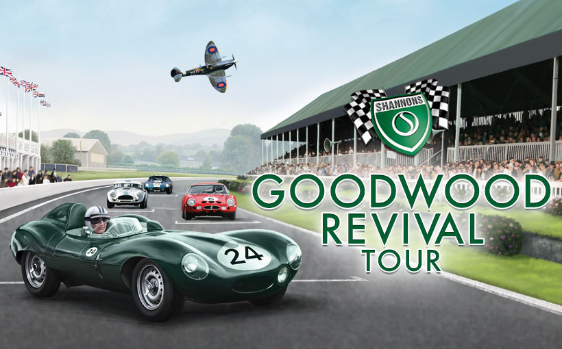Shannons Home & Content policy gives winners a trip to the Goodwood Revival
