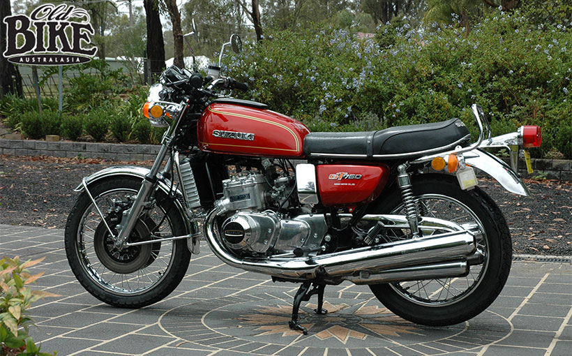 Old Bikes Australasia: The Water Bottle Suzuki GT750