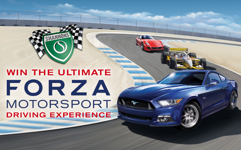 Shannons & Forza Motorsport 6 team up for the Ultimate Driving Experience