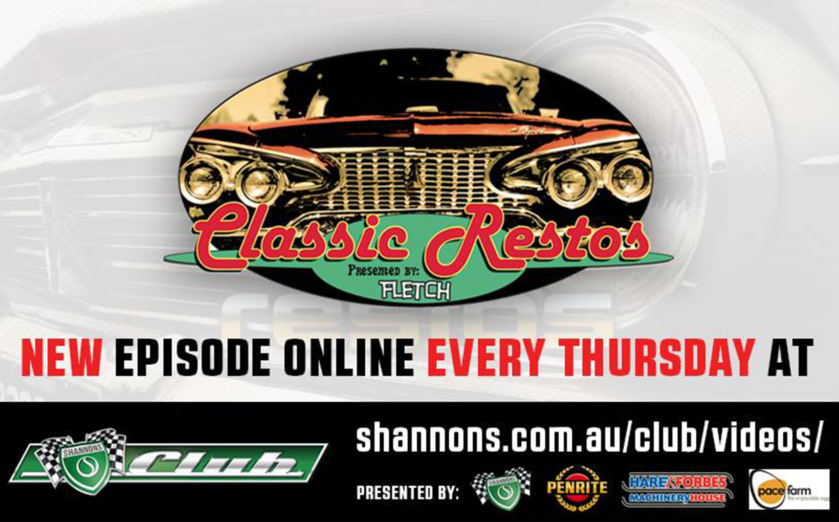 Classic Restos TV - Now Exclusive to Shannons Club