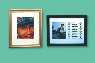 2 x Framed Signed Prints - Jackie Stewart & Mark Webber