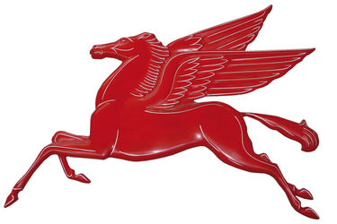 Pegasus - Red Fibreglass 113cm x 90cm (Reproduction)