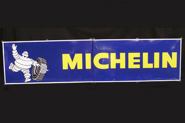 Enamel Sign - Large Two Piece Michelin (9'6'' X 2'3'')