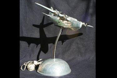 Lamp Polished Aluminium Short Sunderland Flying Boat