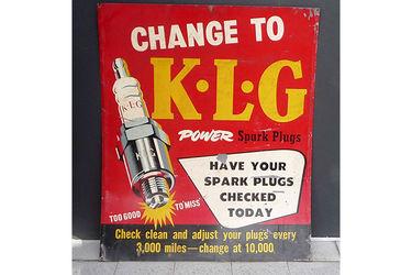 Tin Sign - KLG Spark Plugs (76 x 92cm)