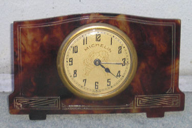 Travel Clock - c.1930s Michelin with Tortoise Shell