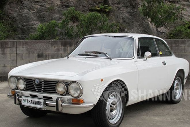 1973 alfa romeo gtv 2000 coupe shannons auction chassis no.:ar2412270