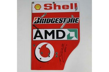 2003 Ferrari Rear Wing End Plate F2003 GA-1 Signed by Michael Schumacher (43cm x 33cm)