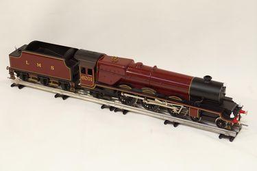 Train & Track - Bassett Lowke O Gauge 'Princess Elizabeth' 6201 with LMS Tender & Track