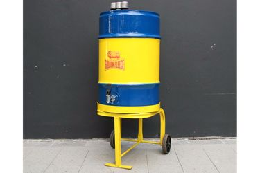 Golden Fleece Oil Drum on Trolley