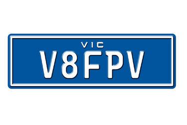 Victorian Custom Mix Number Plates - 'V8FPV'