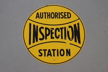 Tin Sign - Authorised Inspection Station (59cm)