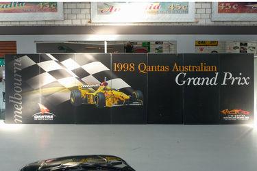 1998 Qantas Australian Grand Prix Promotional Wall ( 7 Panels = approx. 2.4 tall x 8.4 wide)