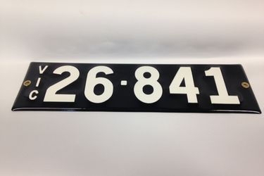 Victorian Numerical Heritage Plate '26.841'