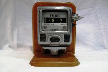 Taxi Meter - c1950's Argo Taxi Meter