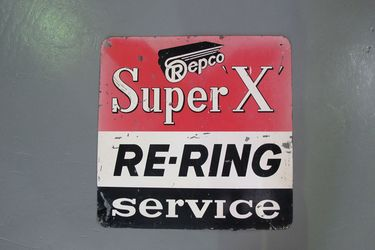 Tin Sign - Repco Super X Double Sided (76cm x 76cm)