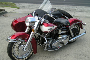 Harley-Davidson Electra Glide Motorcycle with Sidecar