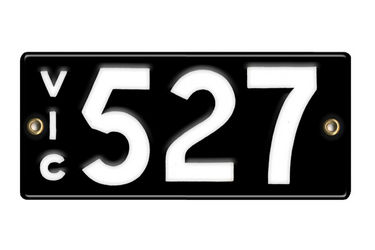 Victorian Number plates '527'