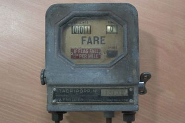 Taxi Meter - c1950's Manufactured Abroad for AF Millier