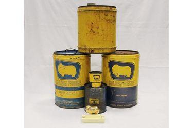 5 x Golden Fleece Oil Tins & Ashtray
