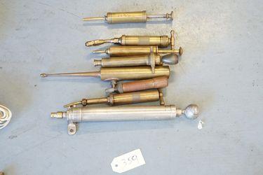 9 x Brass greaser oil Guns