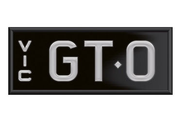 Victorian Signature Number Plates - 'GT.O'