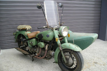 Sunbeam 500cc Motorcycle and Sidecar