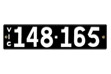 Victorian Number plates '148-165'