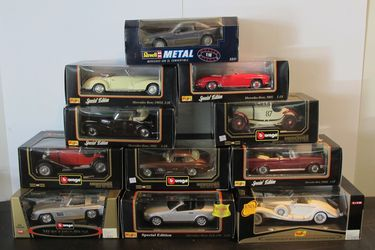 11 x Assorted Mercedes-Benz Model Cars