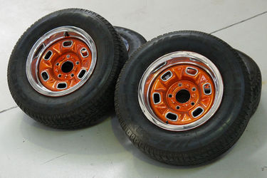 Wheels - 4 X Chevrolet El Camino Styled Steel w/Centre Caps