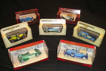 7x Models Cars - Matchbox Models of Yesteryear featuring European Classics