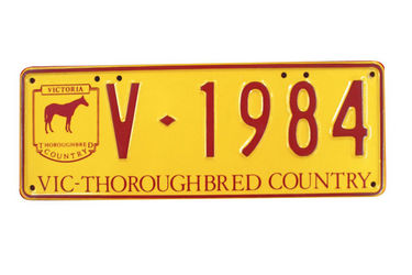 Victorian Thoroughbred Number Plates 'V.1984'