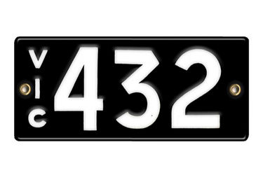 Victorian Number plates '432'