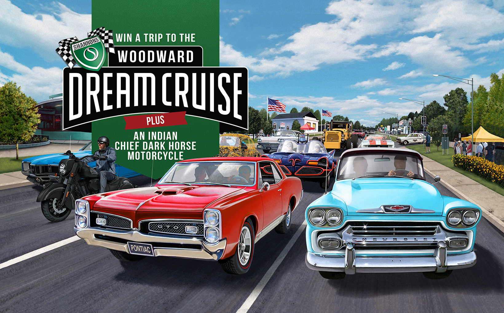 Win a Trip to the Woodward Dream Cruise in the USA and an Indian Chief Dark Horse Motorcycle
