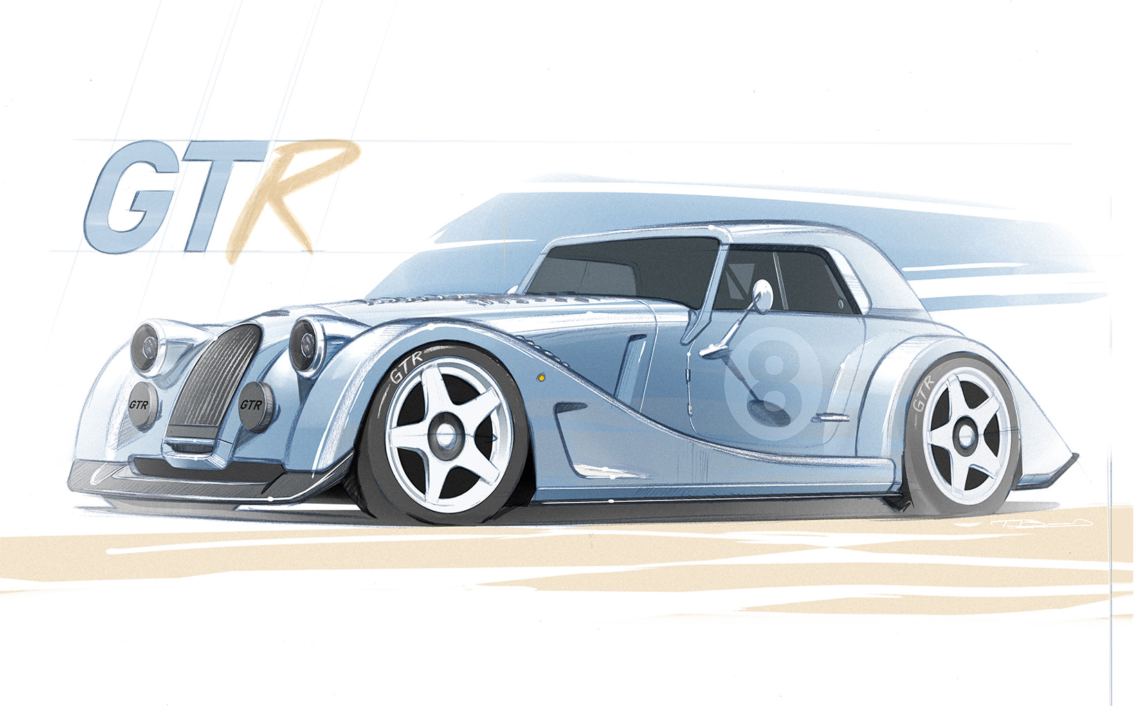 Morgan is recycling a batch of unused chassis to create the V8-powered Plus 8 GTR