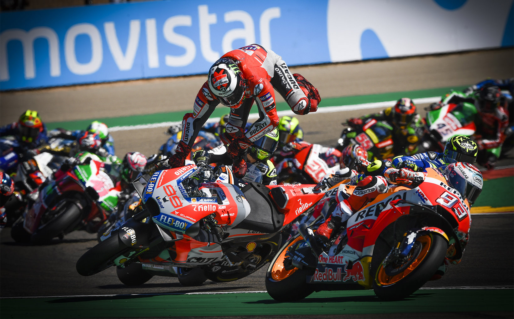 Marquez dominates, Yamaha struggles and Lorenzo gets ejected from his seat!