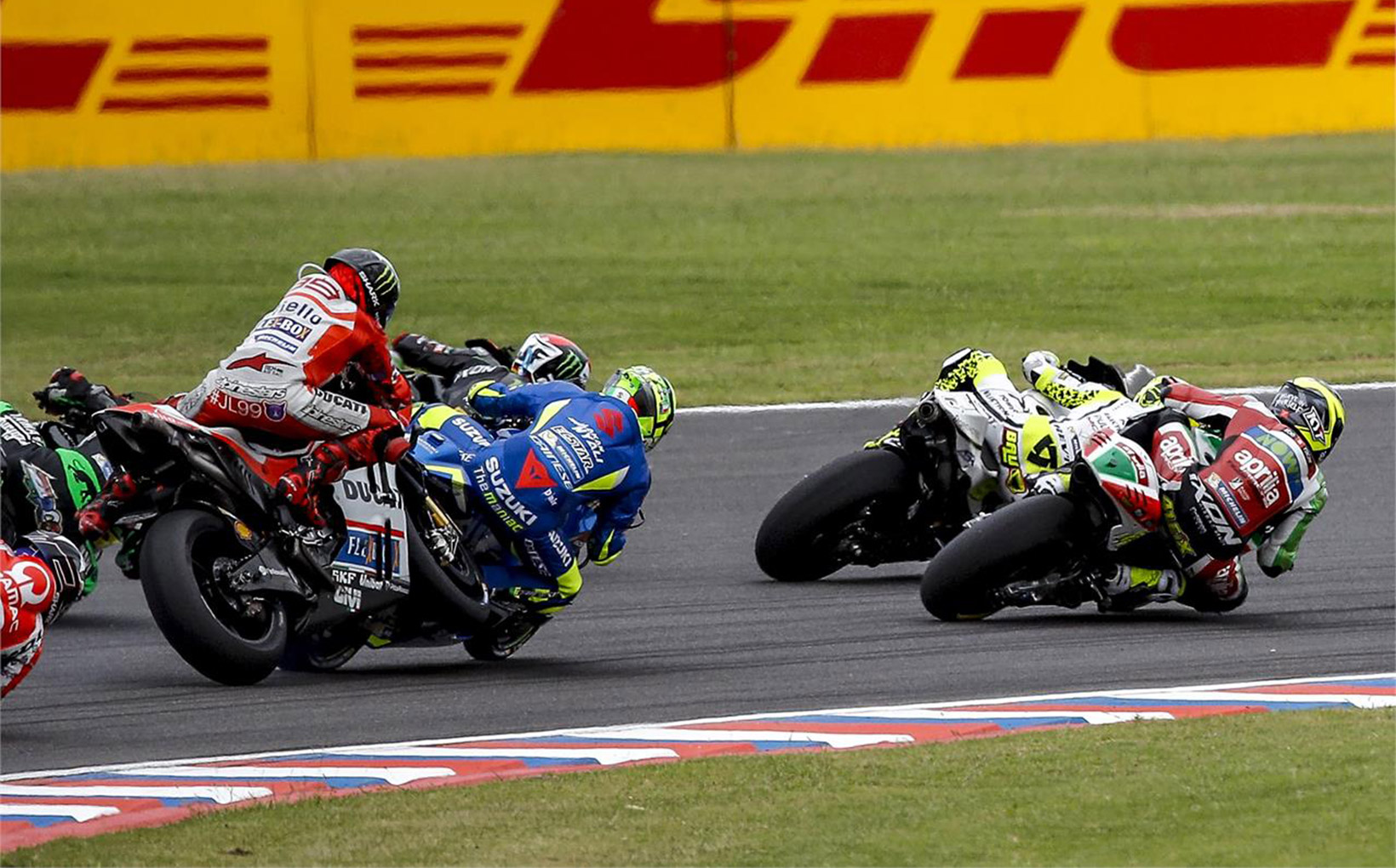 Maverick Vinales masters Argentina with a win whilst Marquez crashes out after leading!