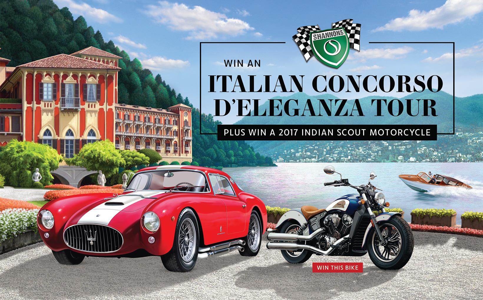 Shannons Exclusive Italian Concorso D'eleganza Tour