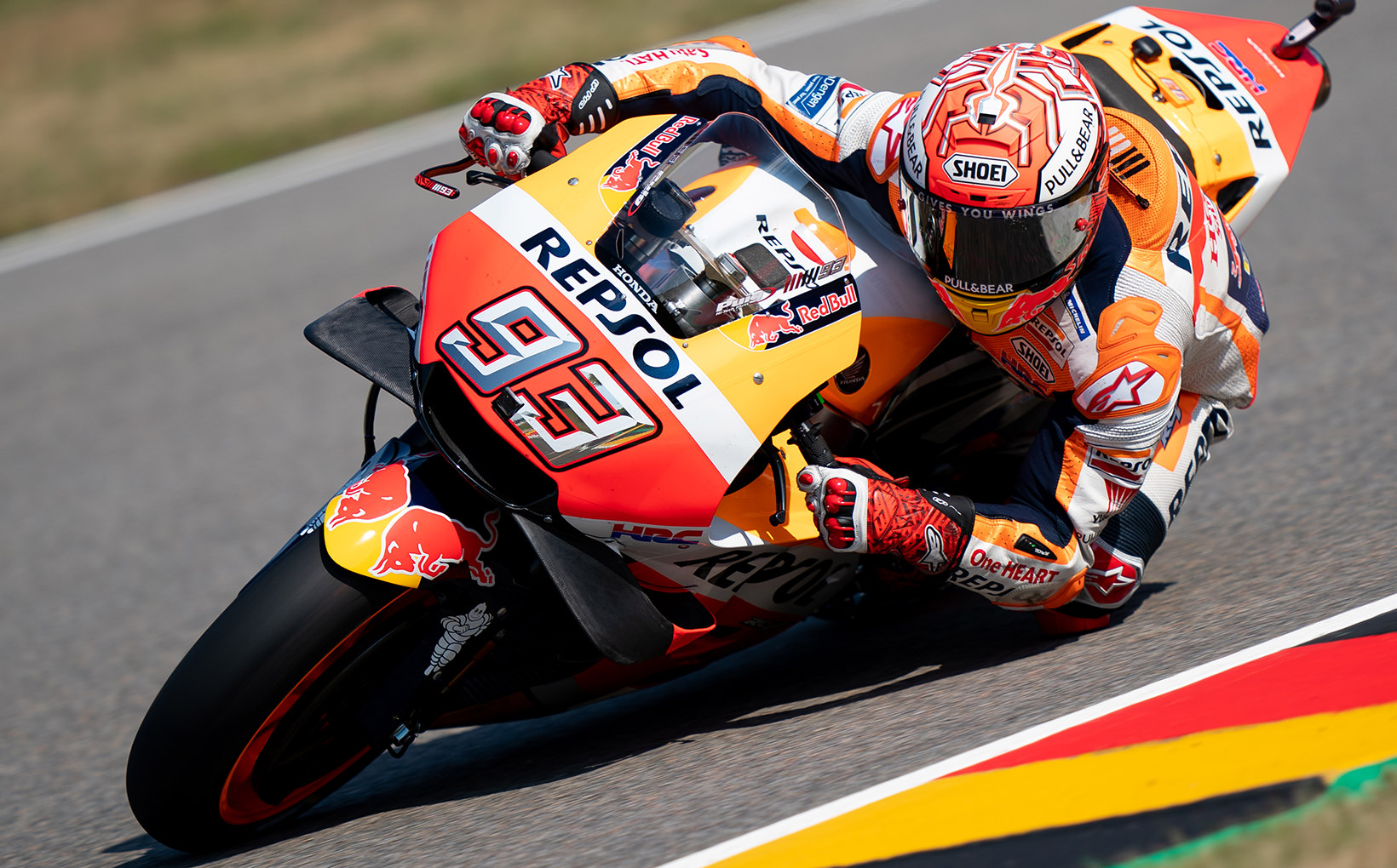 Marc Marquez 9 from 9 at the German Grand Prix