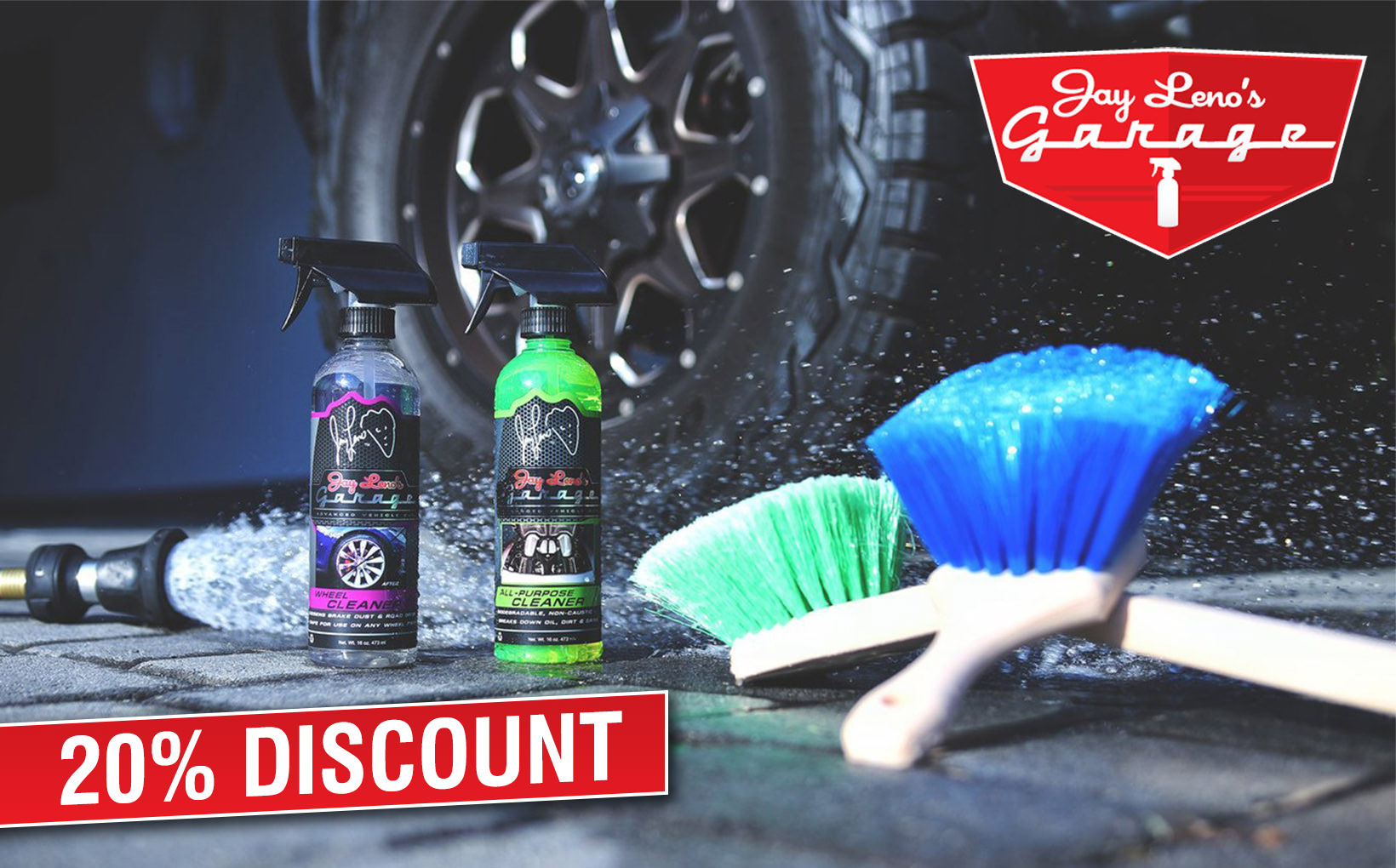 Jay Leno's Garage Advanced Vehicle Care Discount Offer