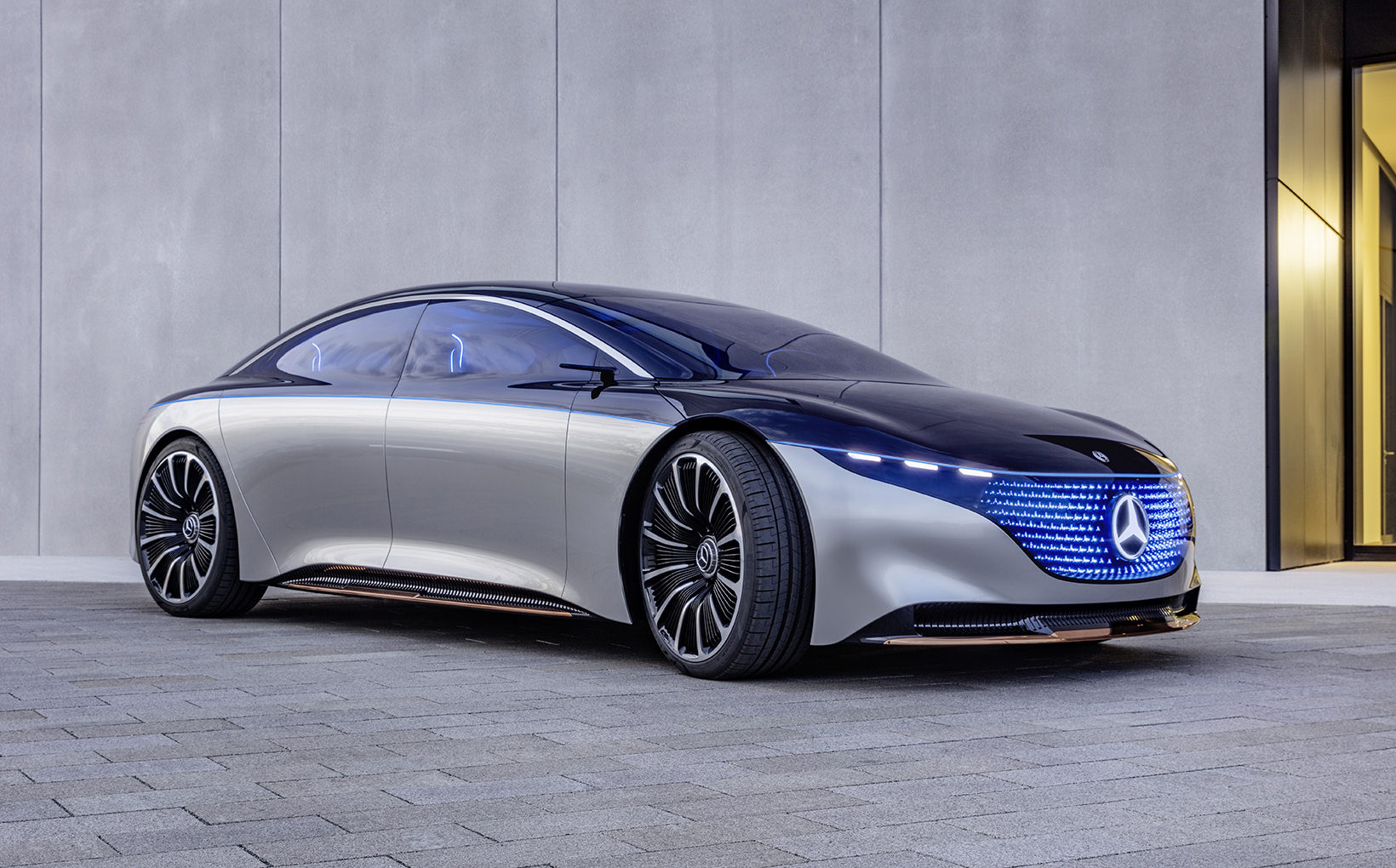 Mercedes blends electric power with opulent luxury in Vision EQS concept