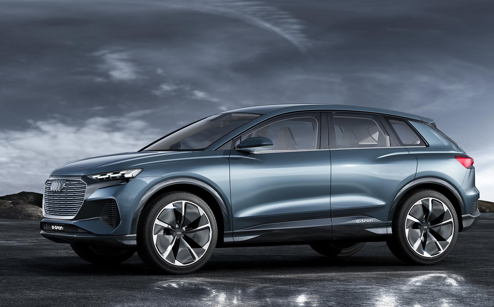 Audi's Q4 e-tron plugs in