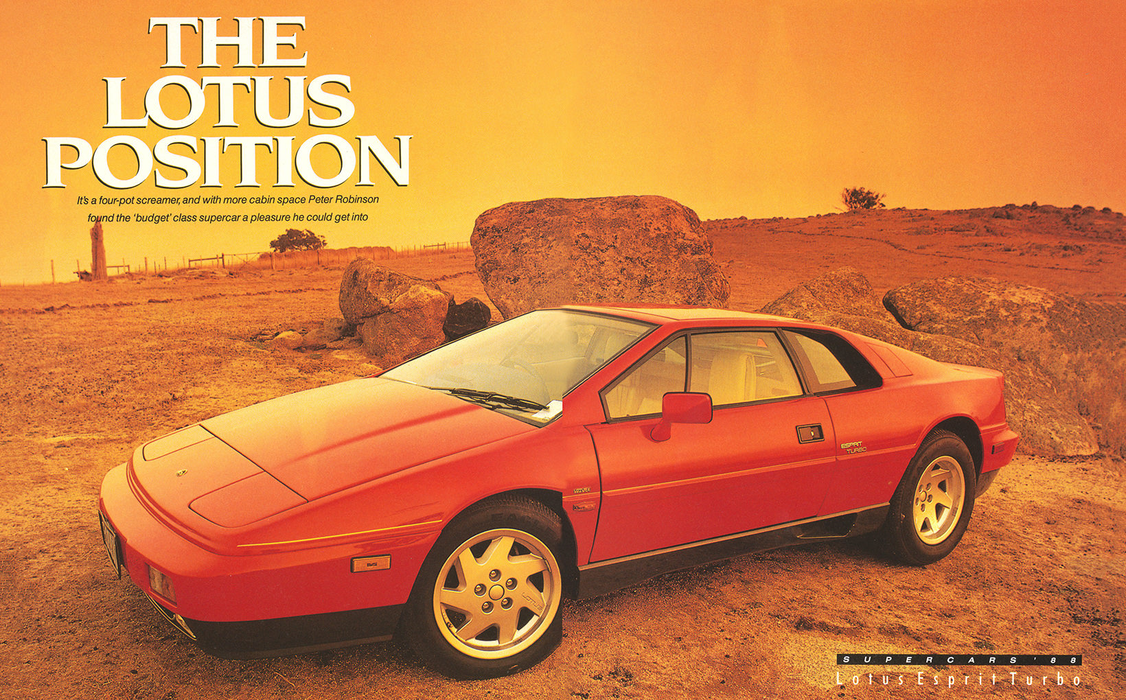 Lotus Esprit Turbo: The Lotus Position