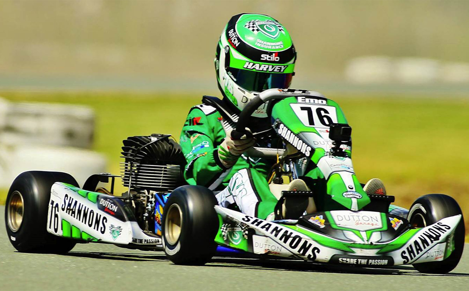 Shannons continues support for Emerson Harvey's 2017 Kart Season