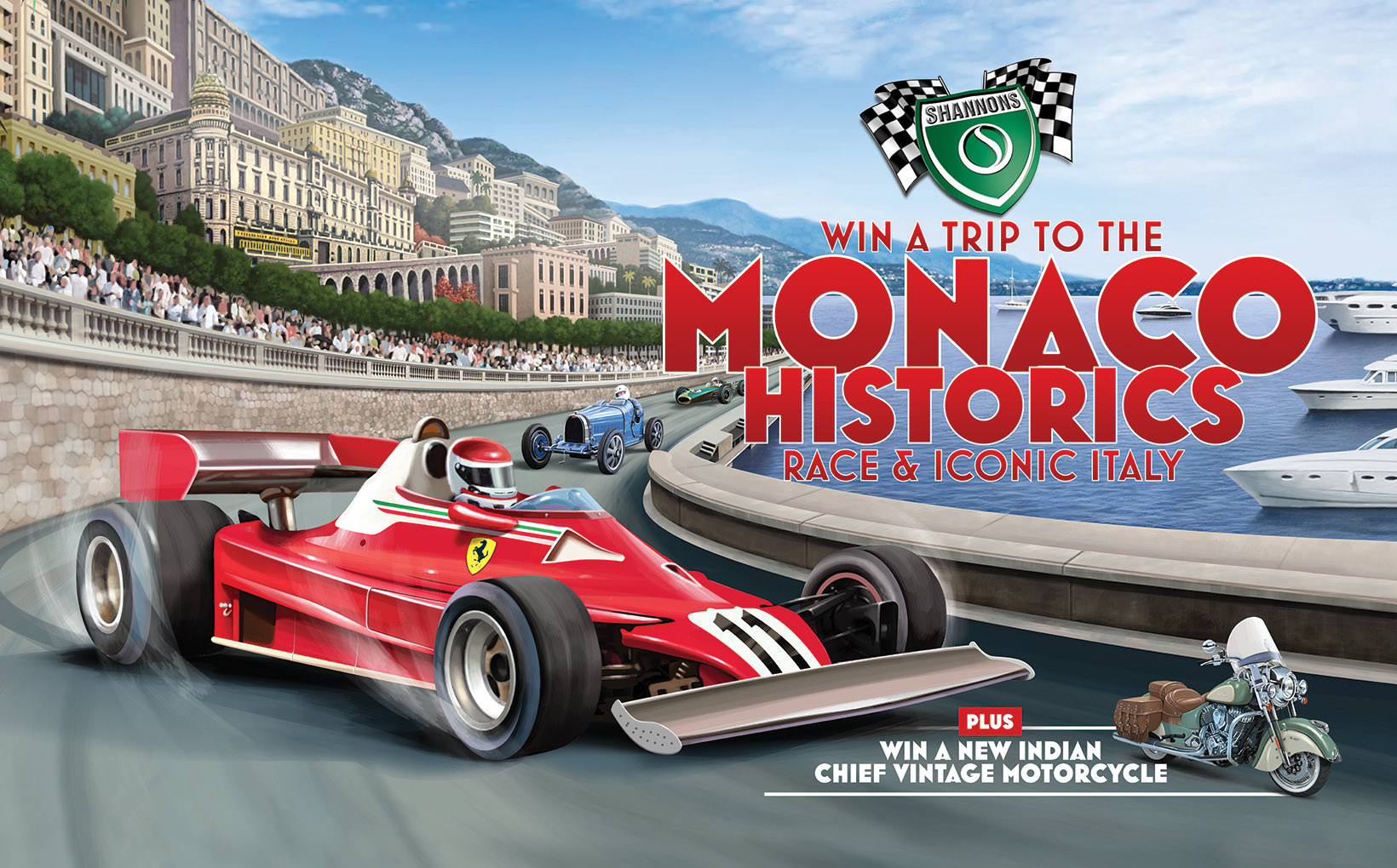 Win a Shannons Trip to the Monaco Historics Race & Italy
