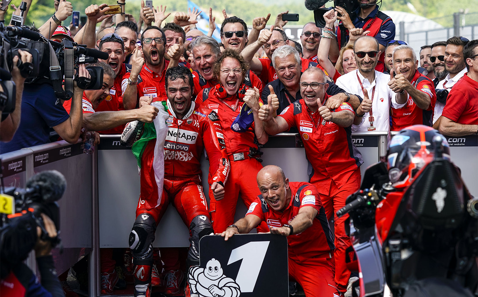 Danilo Petrucci Wins his First Ever MotoGP Race in Mugello!
