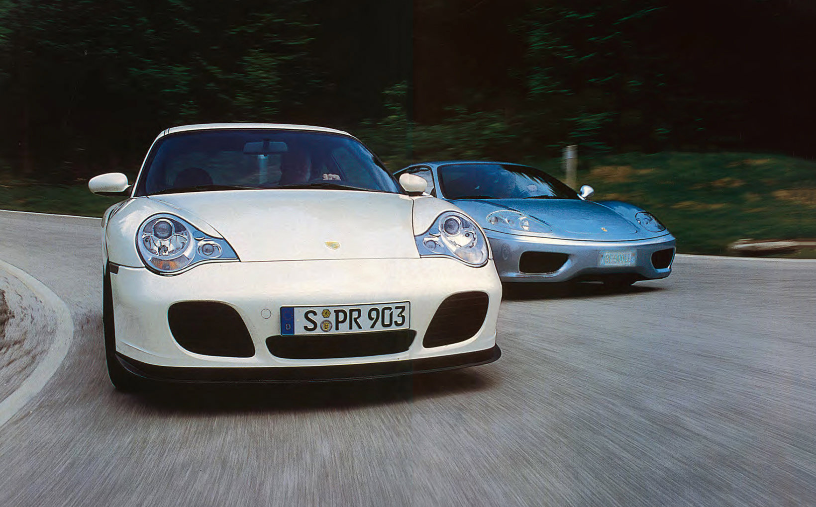 Ferrari 360 Modena v Porsche 911 Turbo: Screaming Jets