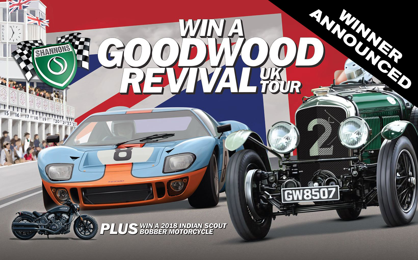 Shannons home policy customer wins Goodwood Revival Competition!