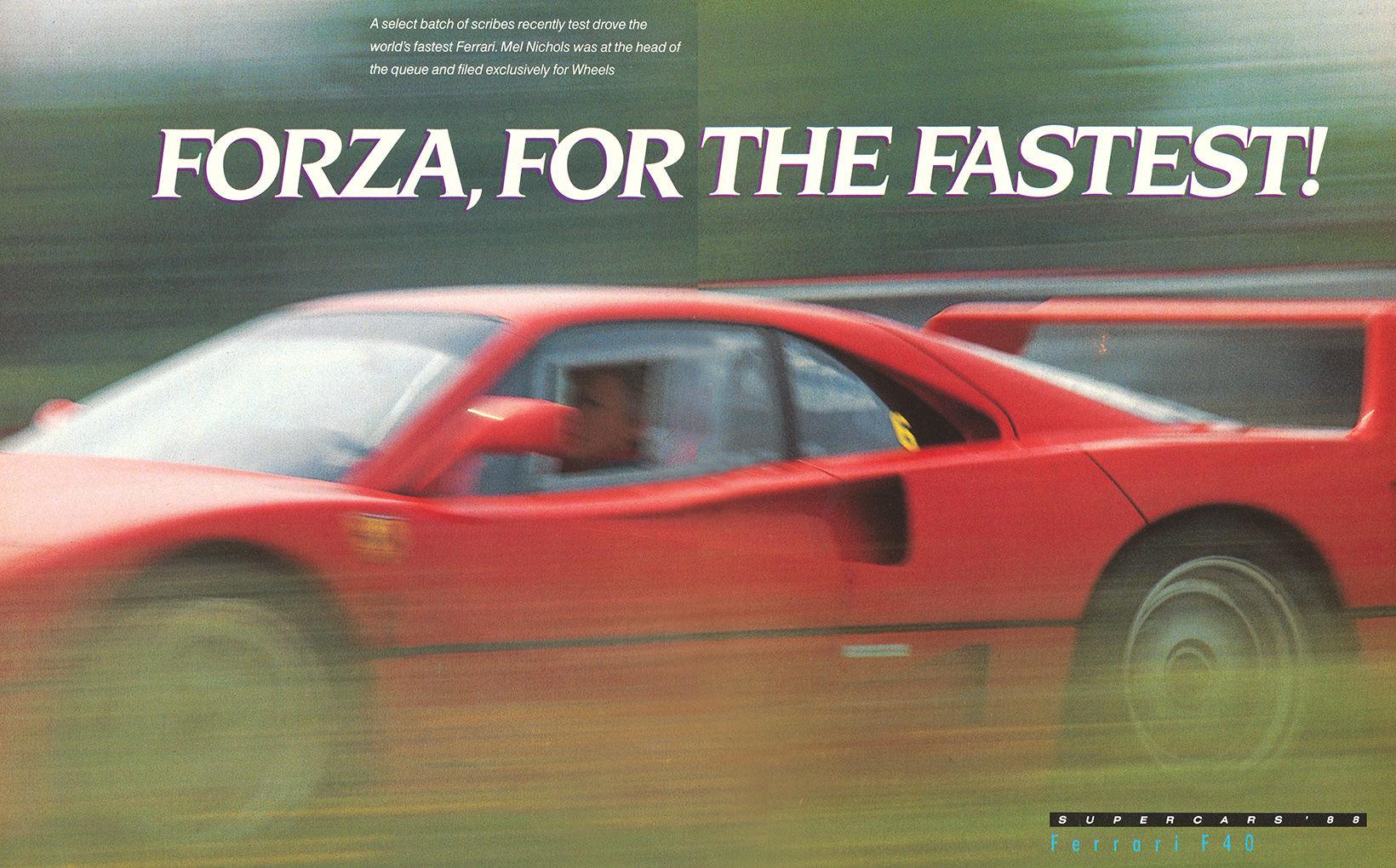Ferrari F40: Forza the Fastest